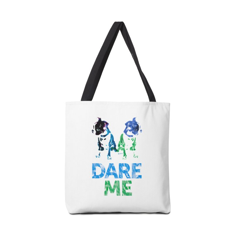 Double Dog Dare Me Accessories Bag by Cliff Blank + DOGMA Portraits