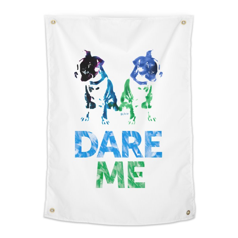Double Dog Dare Me Home Tapestry by Cliff Blank + DOGMA Portraits