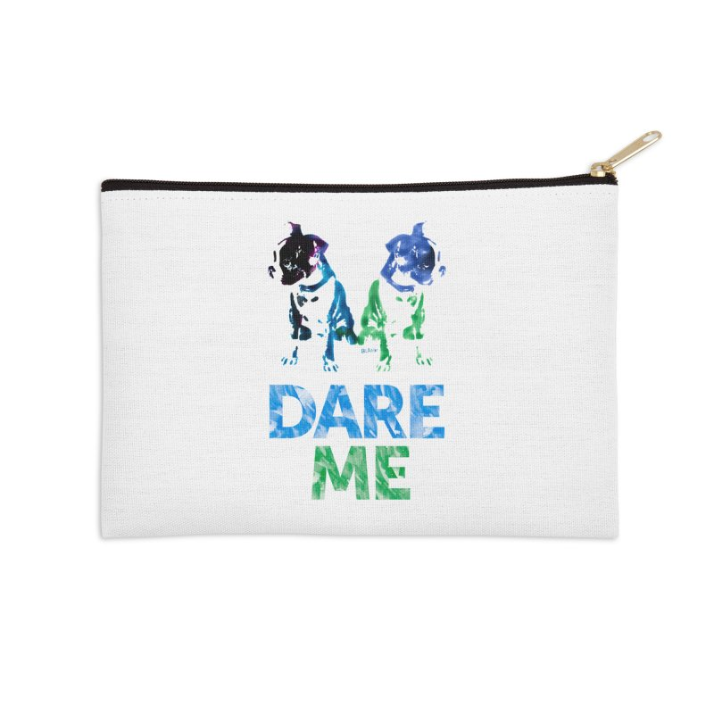 Double Dog Dare Me Accessories Zip Pouch by Cliff Blank + DOGMA Portraits