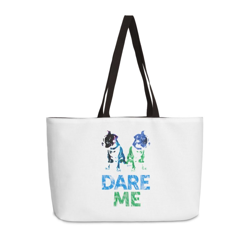 Double Dog Dare Me Accessories Weekender Bag Bag by Cliff Blank + DOGMA Portraits