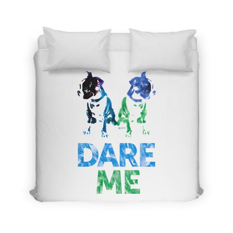 Double Dog Dare Me Home Duvet by Cliff Blank + DOGMA Portraits