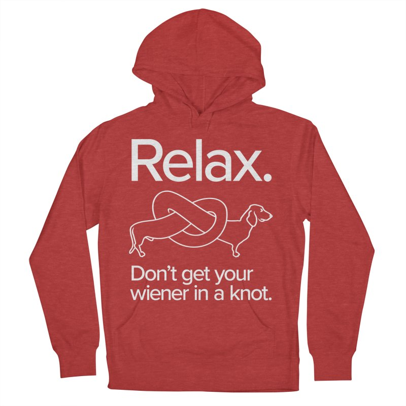 Relax. Don't get your wiener in a knot. (light design) Men's Pullover Hoody by Cliff Blank + DOGMA Portraits