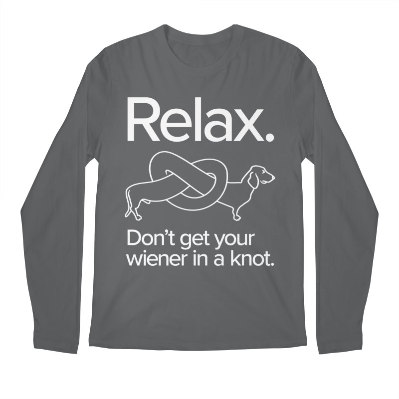 Relax. Don't get your wiener in a knot. (light design)   by Cliff Blank + DOGMA Portraits