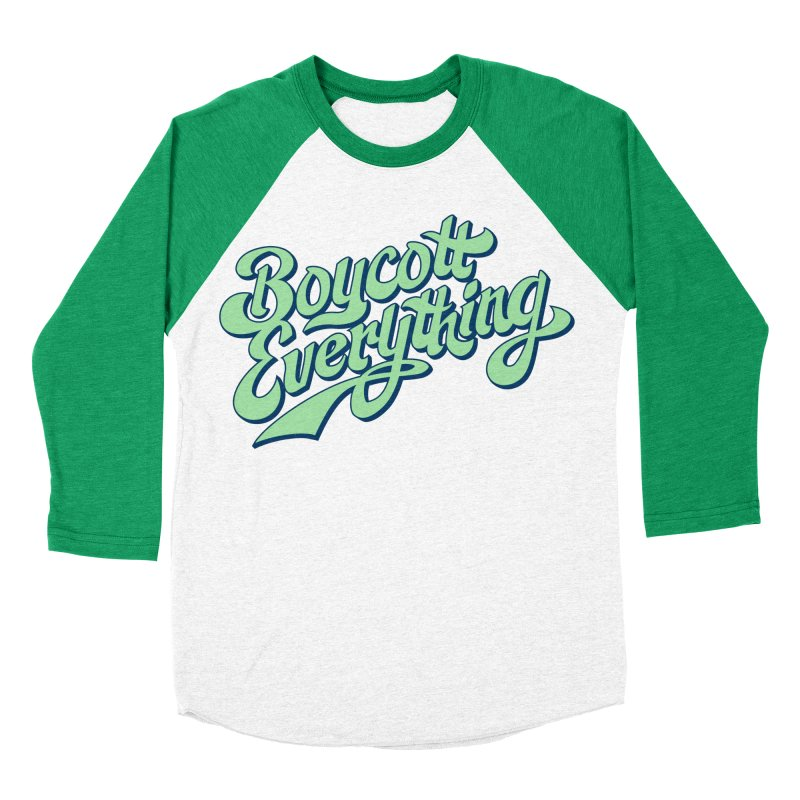 Boycott Everything Men's Baseball Triblend Longsleeve T-Shirt by Blasto's Artist Shop