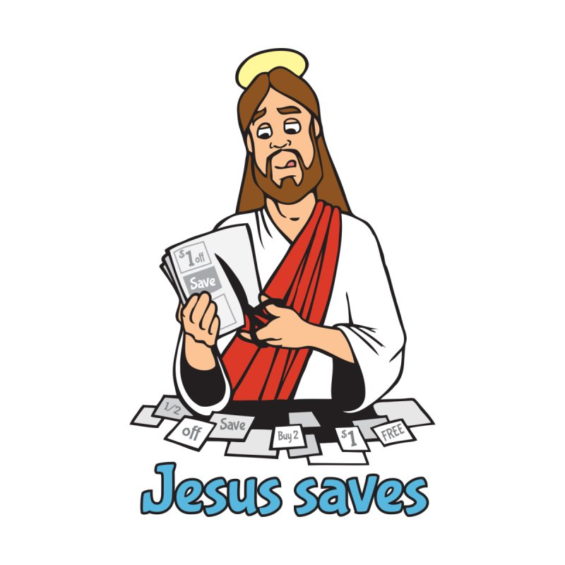 Jesus saves by Blasto's Artist Shop