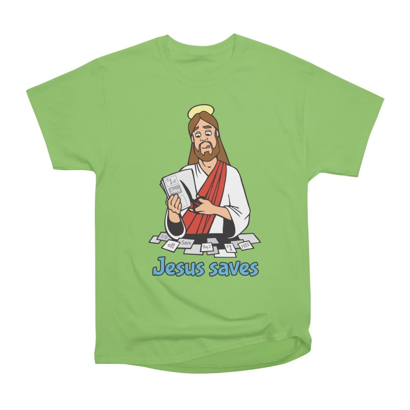 Jesus saves Men's Heavyweight T-Shirt by Blasto's Artist Shop