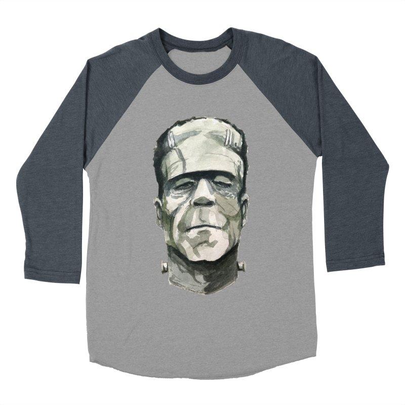 Frank Men's Baseball Triblend Longsleeve T-Shirt by Blasto's Artist Shop