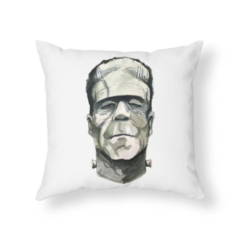 Frank Home Throw Pillow by Blasto's Artist Shop