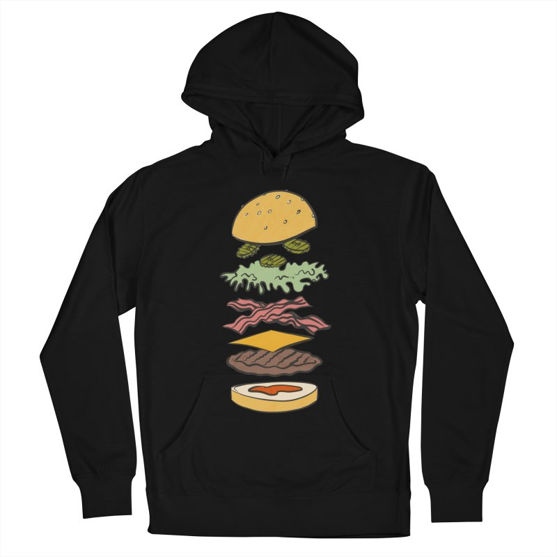 Exploded Bacon Chee Women's French Terry Pullover Hoody by Blasto's Artist Shop