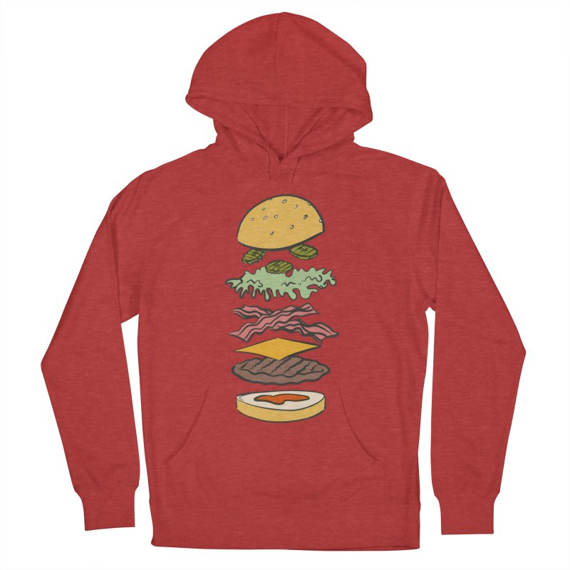 Exploded Bacon Chee Men's French Terry Pullover Hoody by Blasto's Artist Shop
