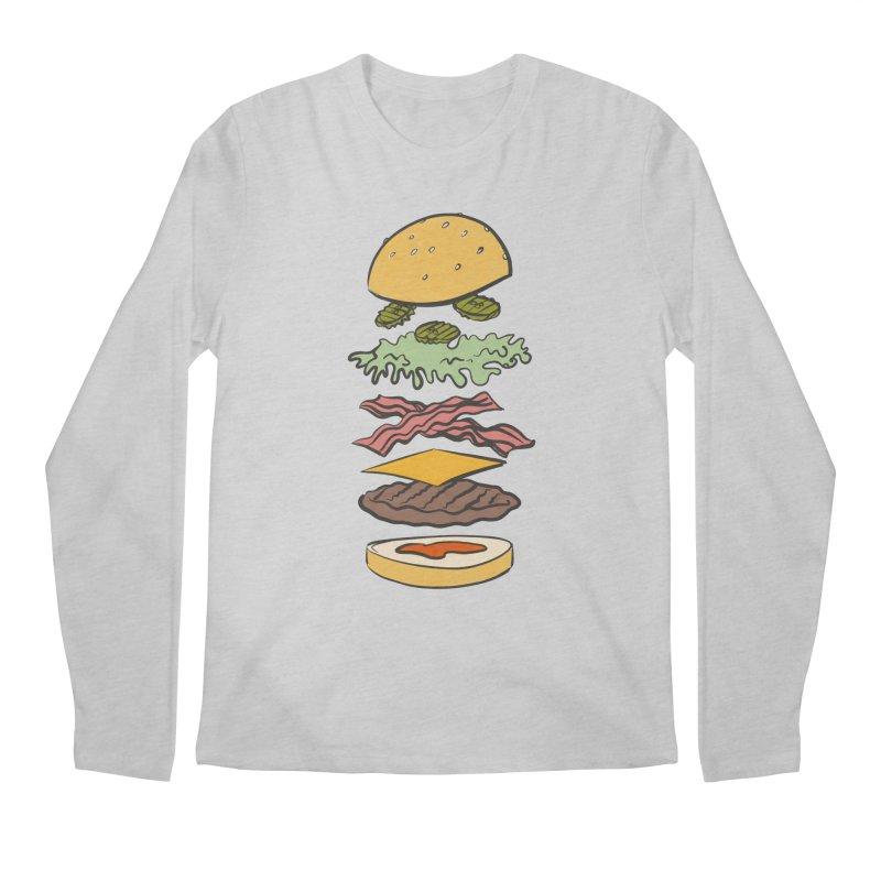 Exploded Bacon Chee Men's Regular Longsleeve T-Shirt by Blasto's Artist Shop