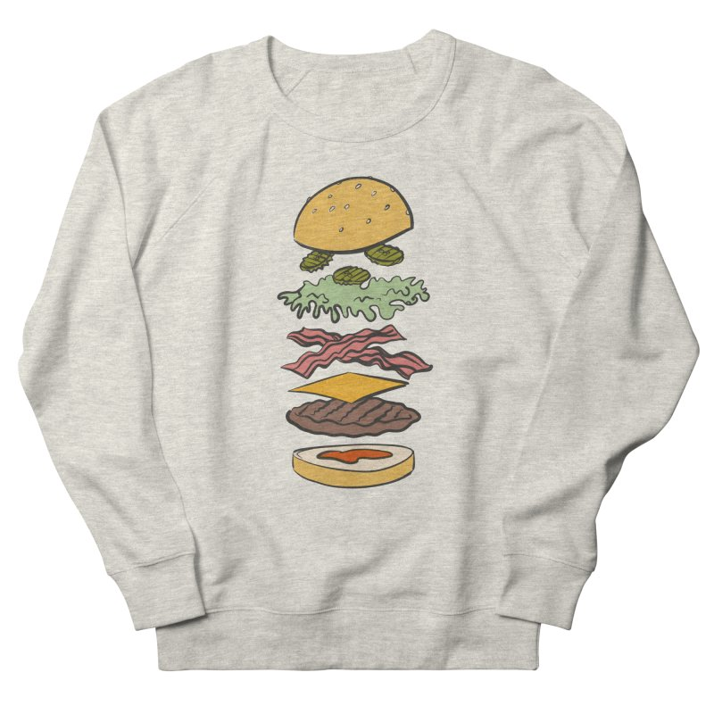 Exploded Bacon Chee Women's French Terry Sweatshirt by Blasto's Artist Shop