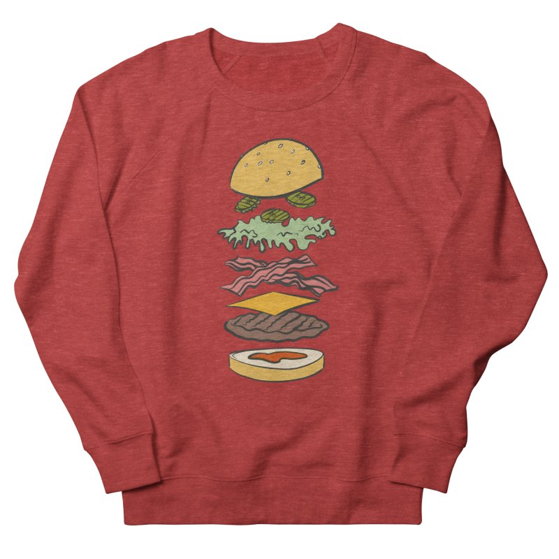 Exploded Bacon Chee Men's French Terry Sweatshirt by Blasto's Artist Shop