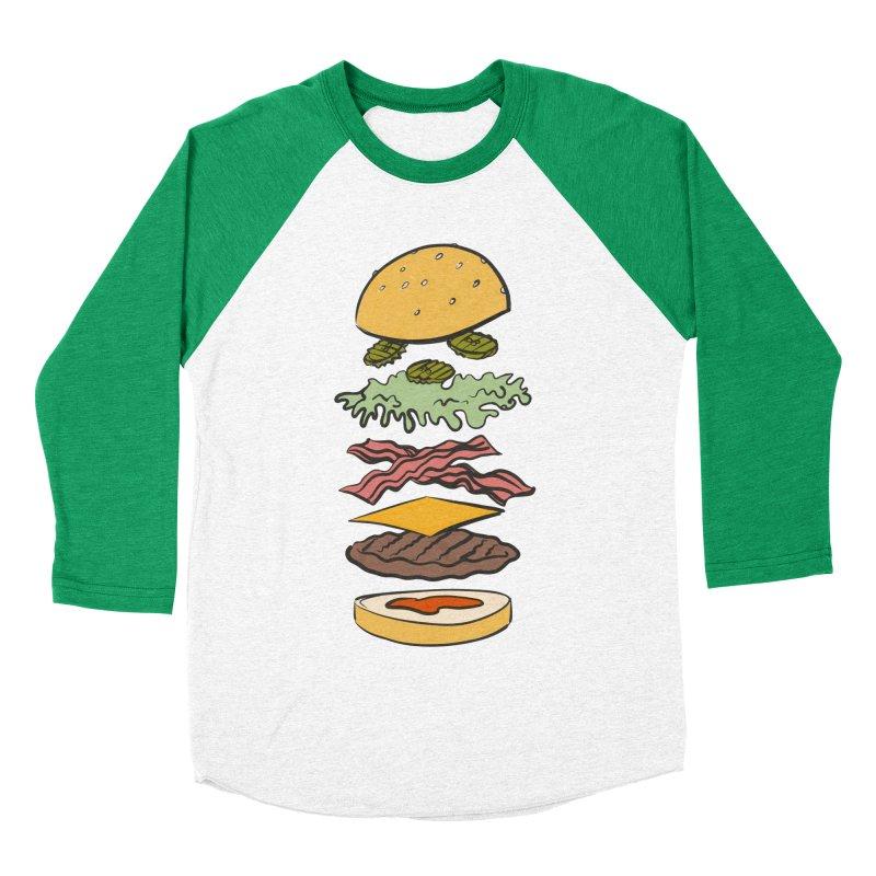 Exploded Bacon Chee Men's Baseball Triblend Longsleeve T-Shirt by Blasto's Artist Shop