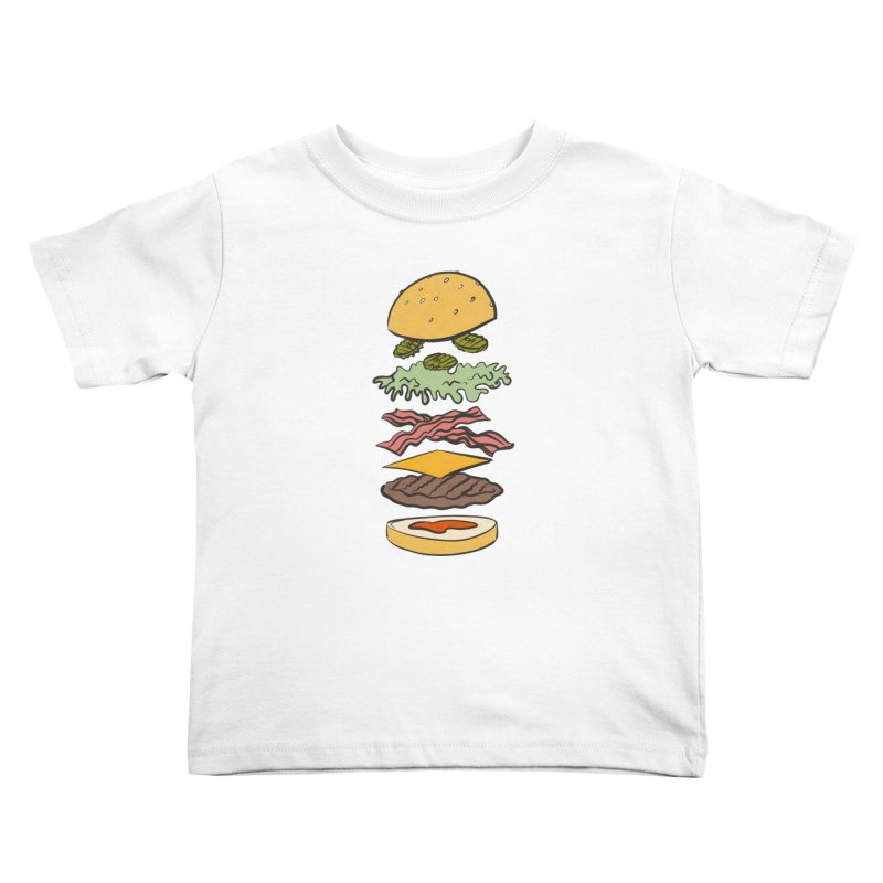 Exploded Bacon Chee Kids Toddler T-Shirt by Blasto's Artist Shop