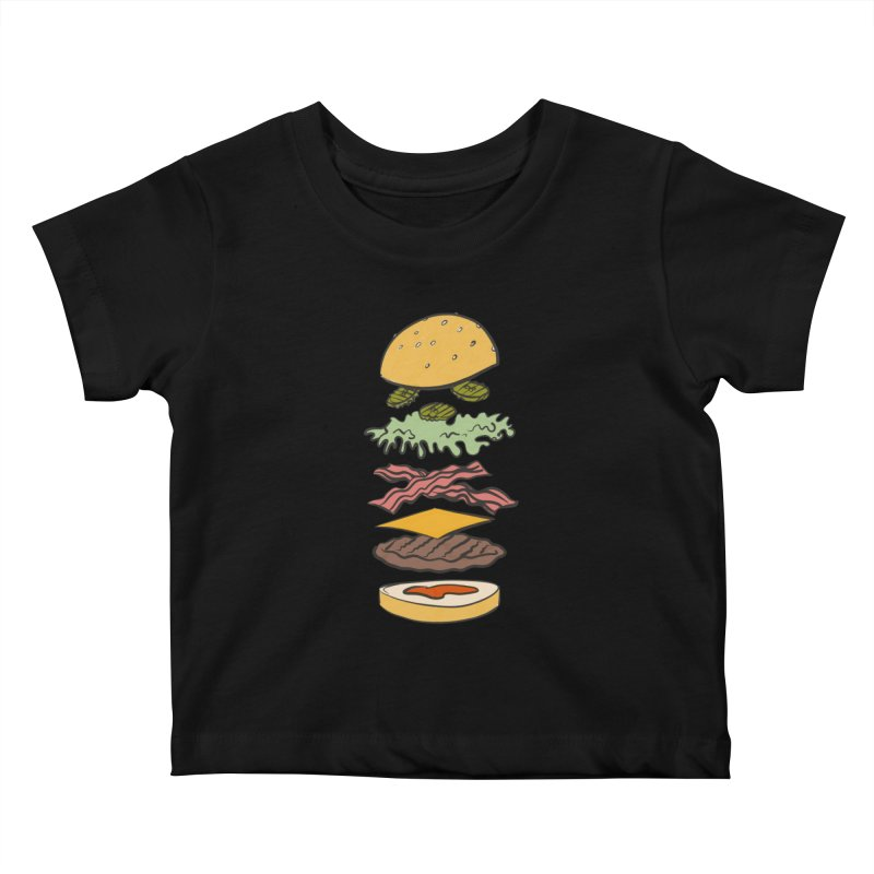 Exploded Bacon Chee Kids Baby T-Shirt by Blasto's Artist Shop