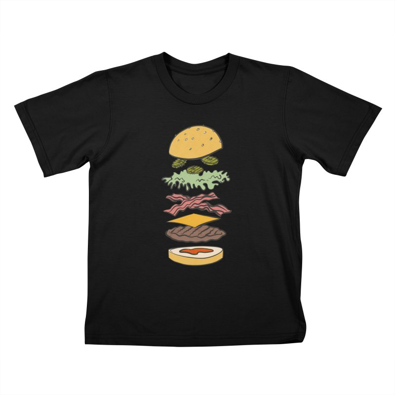 Exploded Bacon Chee Kids T-Shirt by Blasto's Artist Shop
