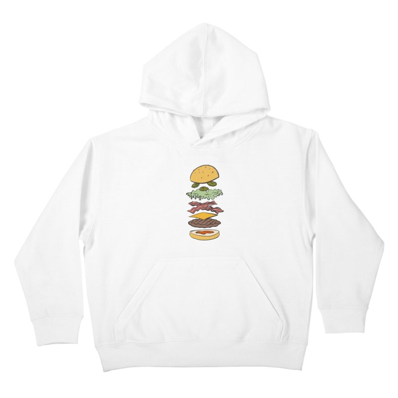 Exploded Bacon Chee Kids Pullover Hoody by Blasto's Artist Shop