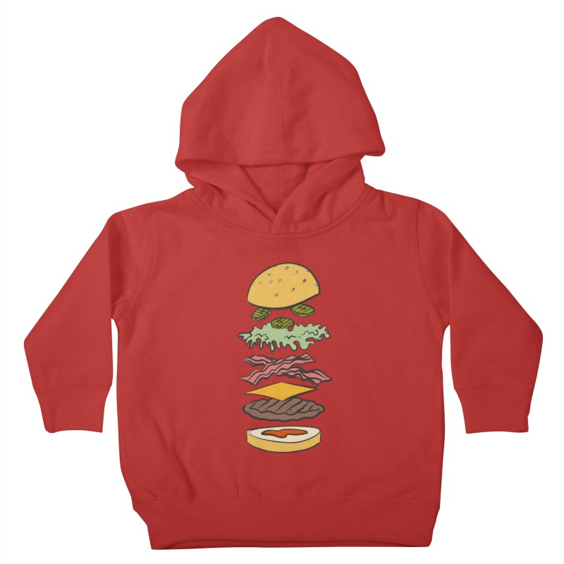 Exploded Bacon Chee Kids Toddler Pullover Hoody by Blasto's Artist Shop