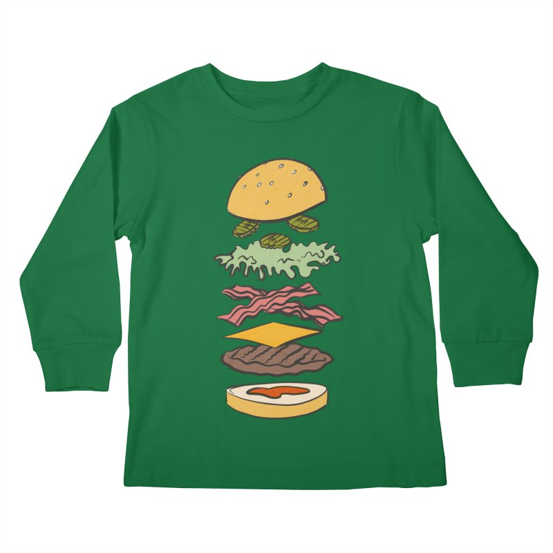 Exploded Bacon Chee Kids Longsleeve T-Shirt by Blasto's Artist Shop