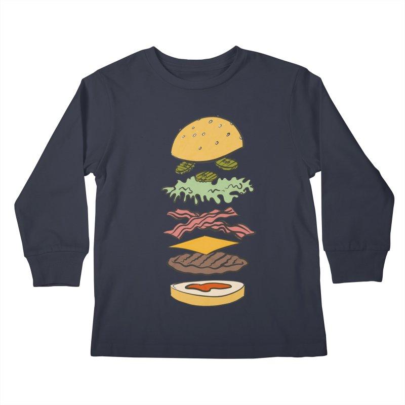 Exploded Bacon Chee Kids Longsleeve T-Shirt by Blasto's Artist Shop