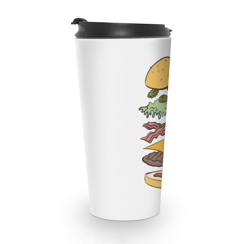 Exploded Bacon Chee Accessories Travel Mug by Blasto's Artist Shop