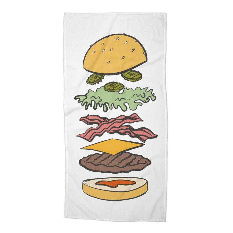 Exploded Bacon Chee Accessories Beach Towel by Blasto's Artist Shop