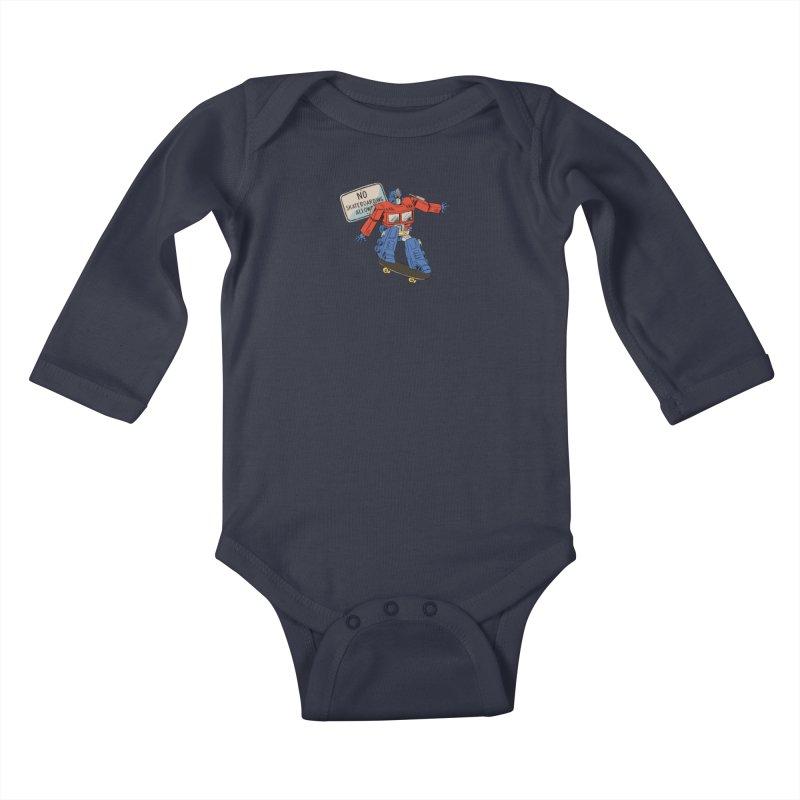 Prime SK8 Kids Baby Longsleeve Bodysuit by Blasto's Artist Shop