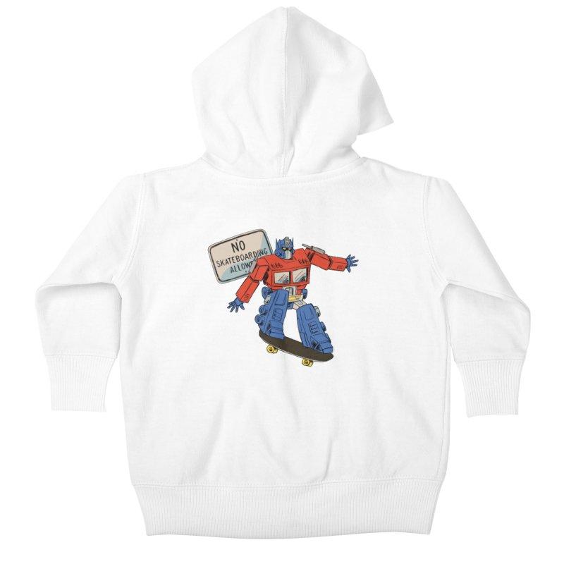 Prime SK8 Kids Baby Zip-Up Hoody by Blasto's Artist Shop