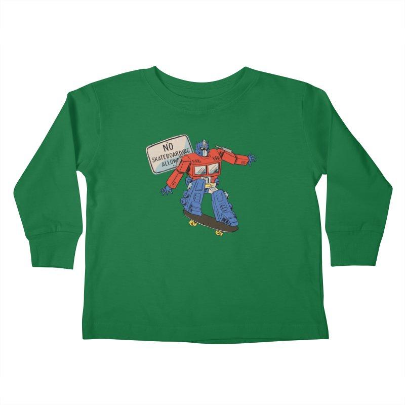 Prime SK8 Kids Toddler Longsleeve T-Shirt by Blasto's Artist Shop