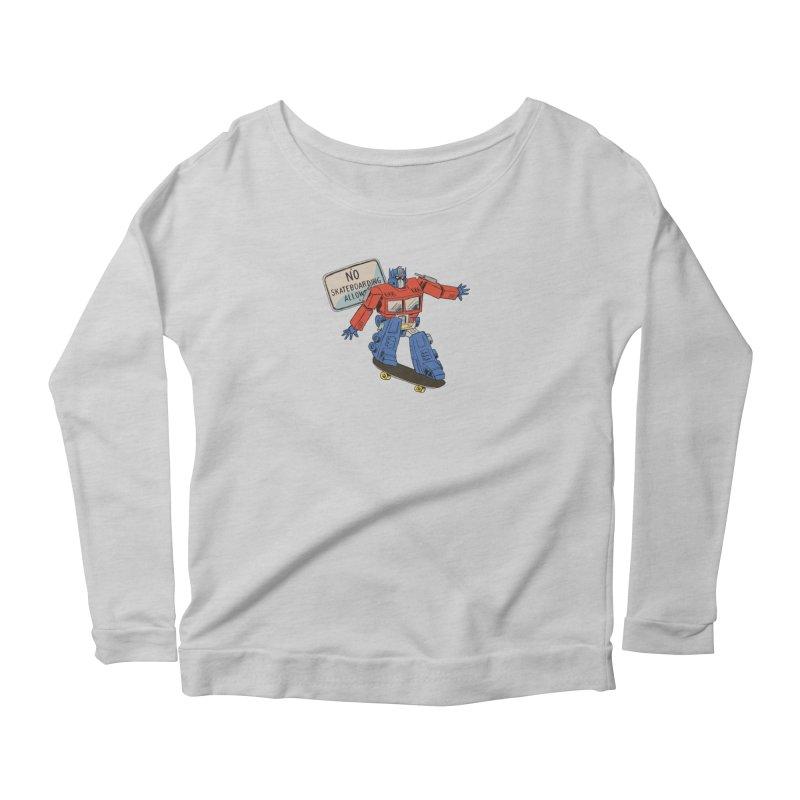Prime SK8 Women's Scoop Neck Longsleeve T-Shirt by Blasto's Artist Shop