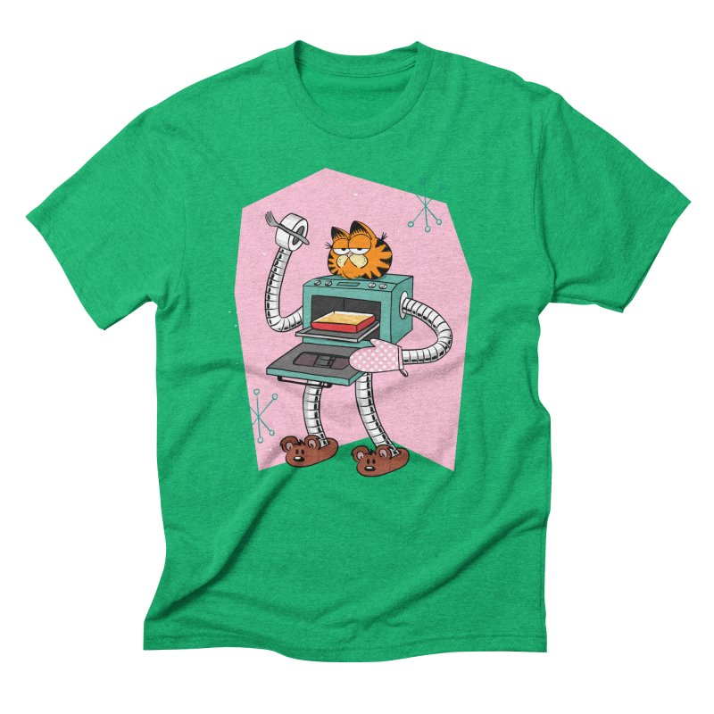 Garfield LOD (Lasagna On Demand) Men's Triblend T-Shirt by Blasto's Artist Shop