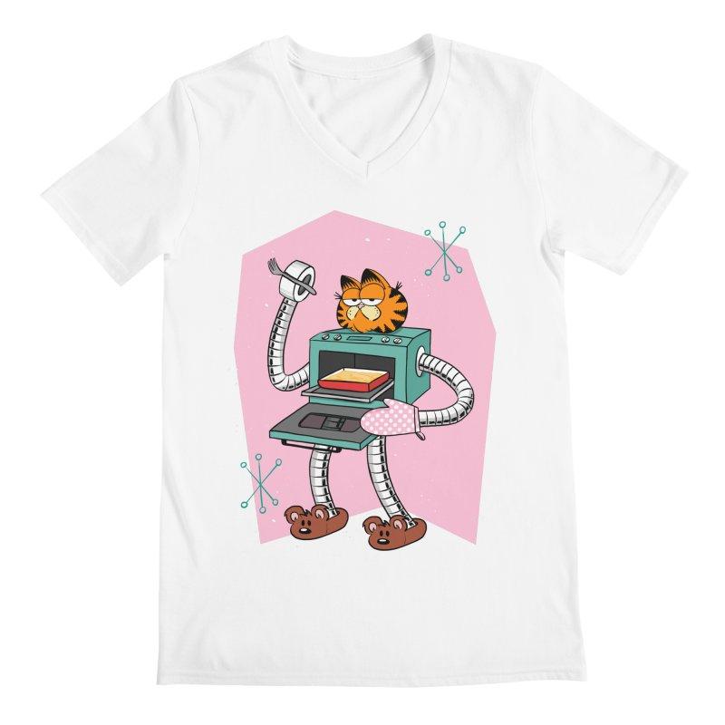 Garfield LOD (Lasagna On Demand) Men's Regular V-Neck by Blasto's Artist Shop