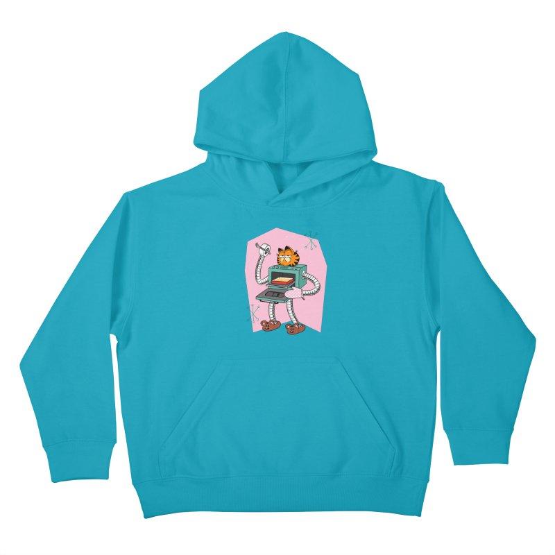Garfield LOD (Lasagna On Demand) Kids Pullover Hoody by Blasto's Artist Shop
