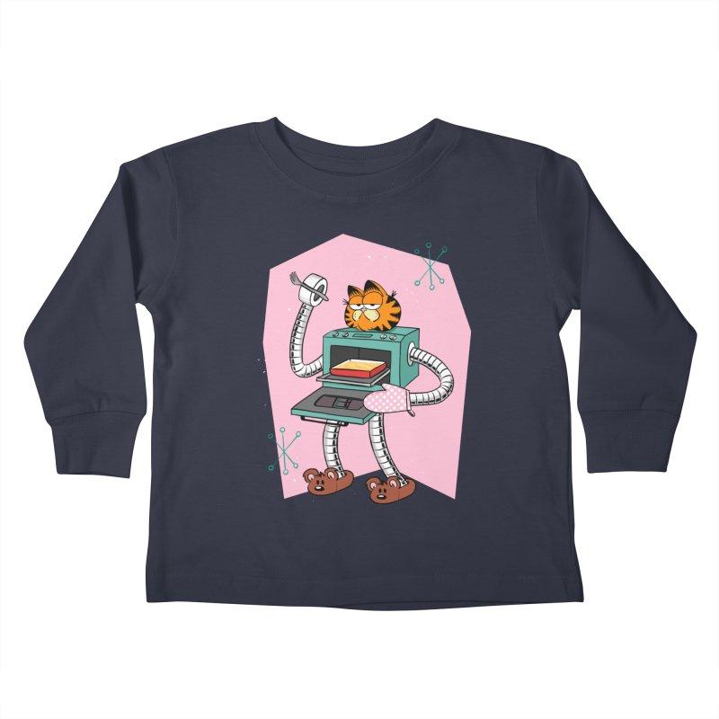 Garfield LOD (Lasagna On Demand) Kids Toddler Longsleeve T-Shirt by Blasto's Artist Shop