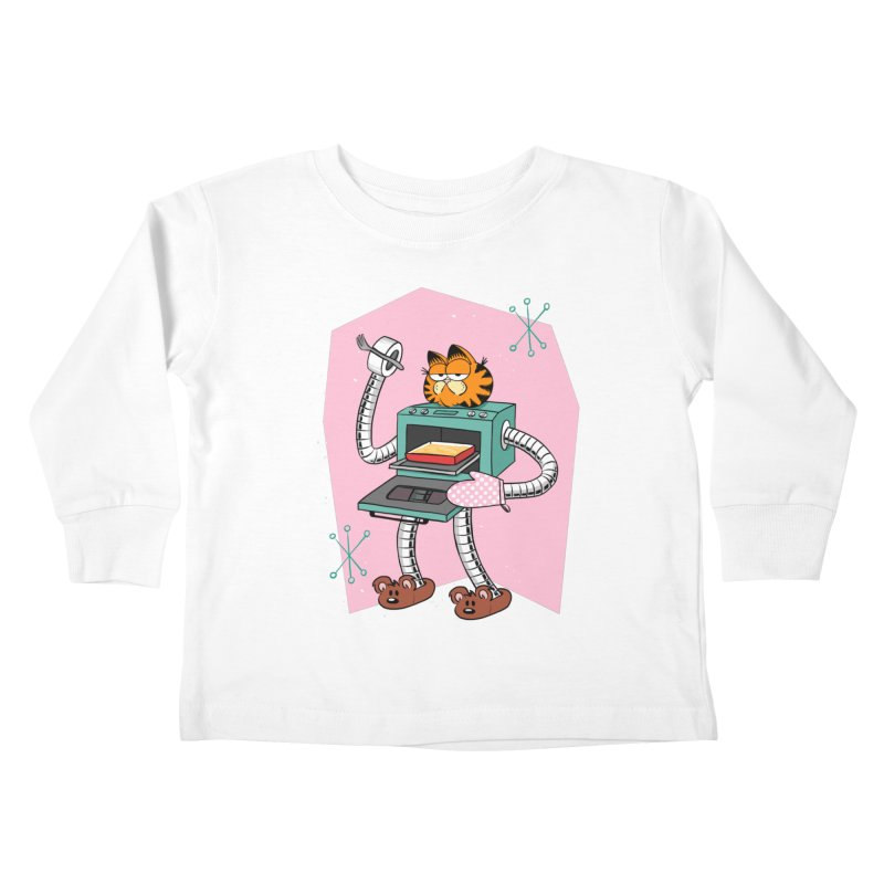 Garfield LOD (Lasagna On Demand) Kids Toddler Longsleeve T-Shirt by Blasto's Artist Shop
