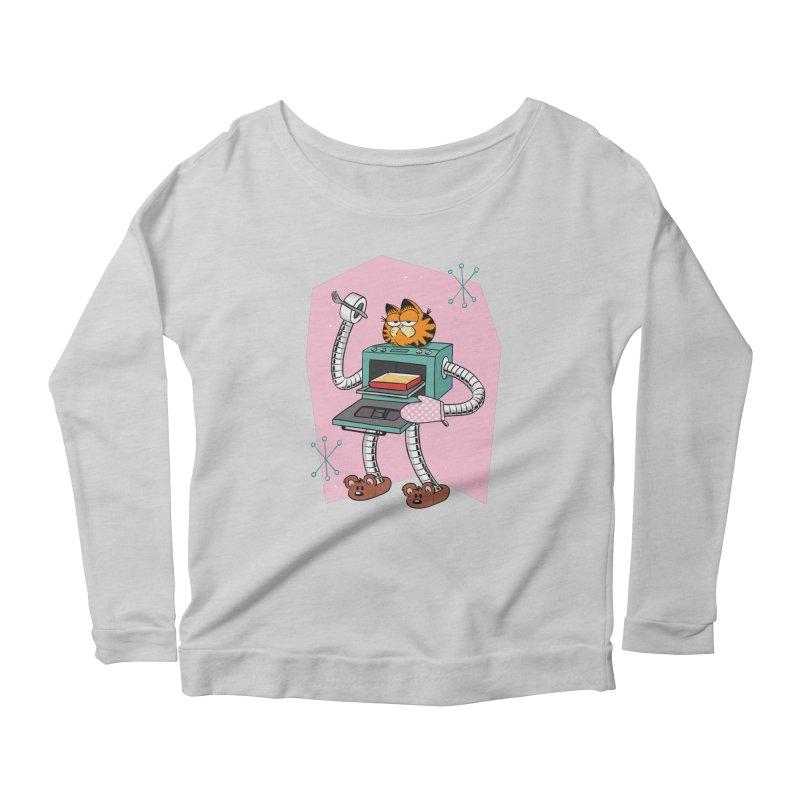 Garfield LOD (Lasagna On Demand) Women's Scoop Neck Longsleeve T-Shirt by Blasto's Artist Shop
