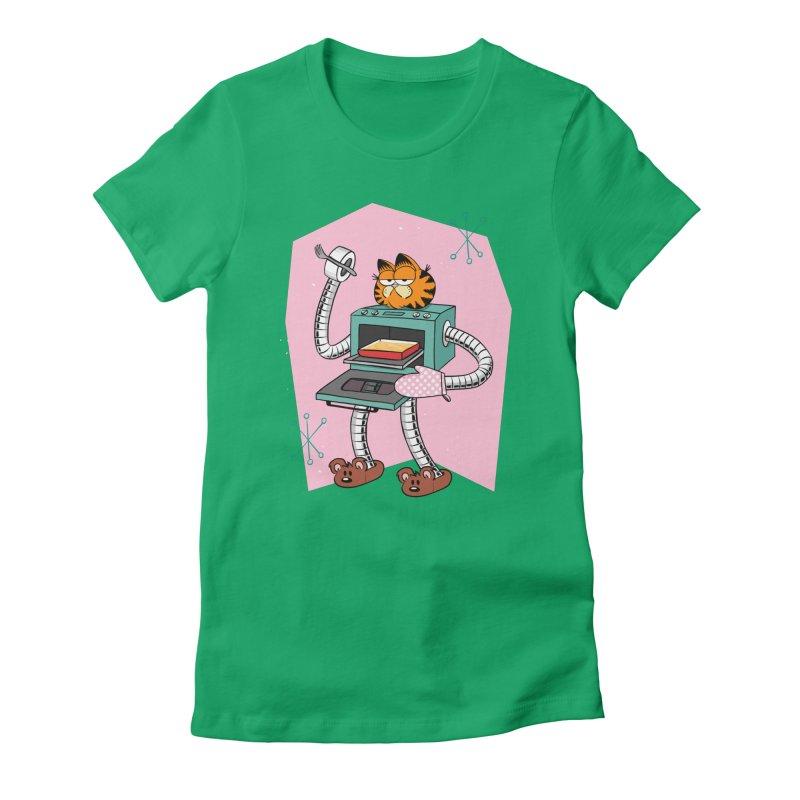 Garfield LOD (Lasagna On Demand) Women's Fitted T-Shirt by Blasto's Artist Shop