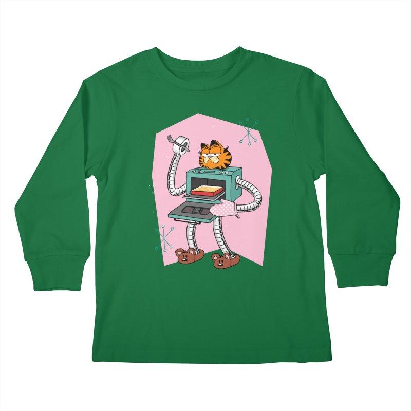 Garfield LOD (Lasagna On Demand) Kids Longsleeve T-Shirt by Blasto's Artist Shop