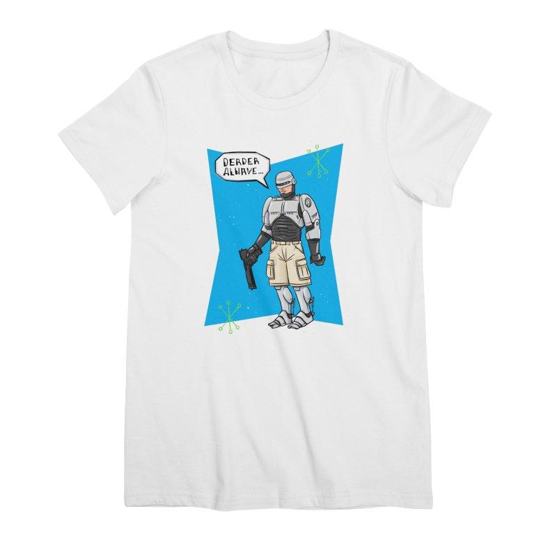 RoboClerp (Ermagerd robots wearing cargo shorts) Women's Premium T-Shirt by Blasto's Artist Shop