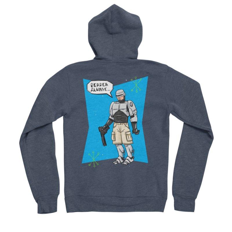RoboClerp (Ermagerd robots wearing cargo shorts) Men's Sponge Fleece Zip-Up Hoody by Blasto's Artist Shop