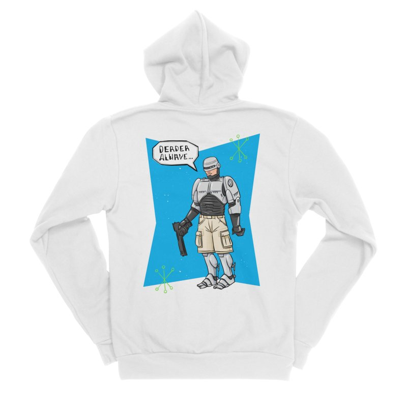 RoboClerp (Ermagerd robots wearing cargo shorts) Women's Sponge Fleece Zip-Up Hoody by Blasto's Artist Shop