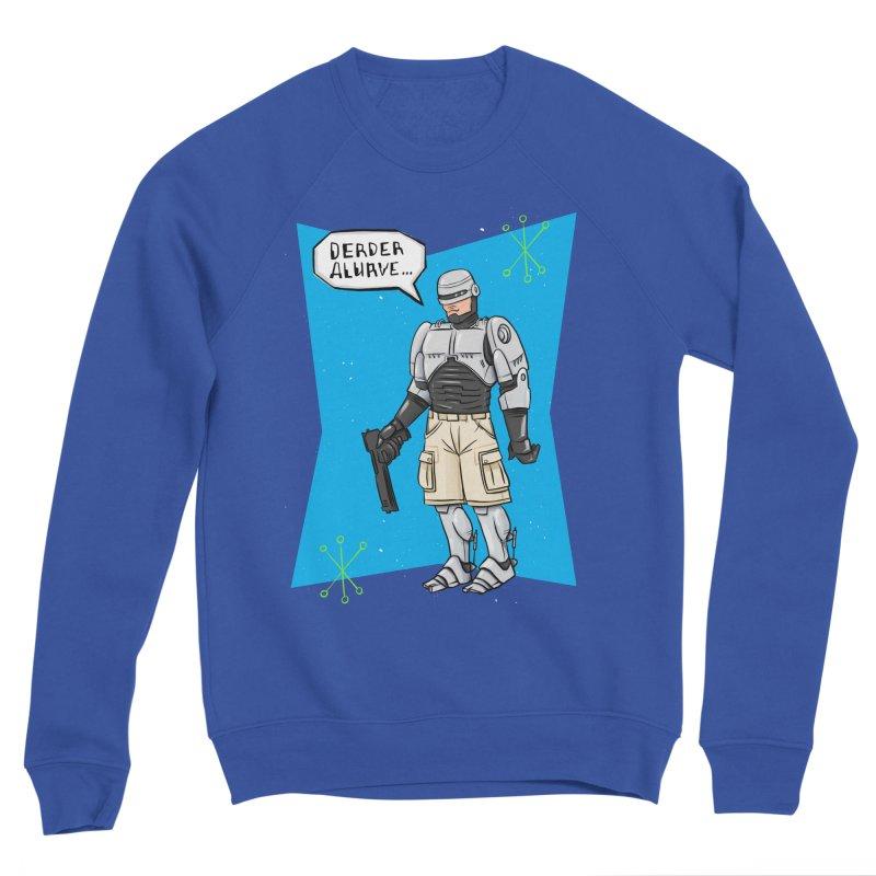 RoboClerp (Ermagerd robots wearing cargo shorts) Men's Sponge Fleece Sweatshirt by Blasto's Artist Shop