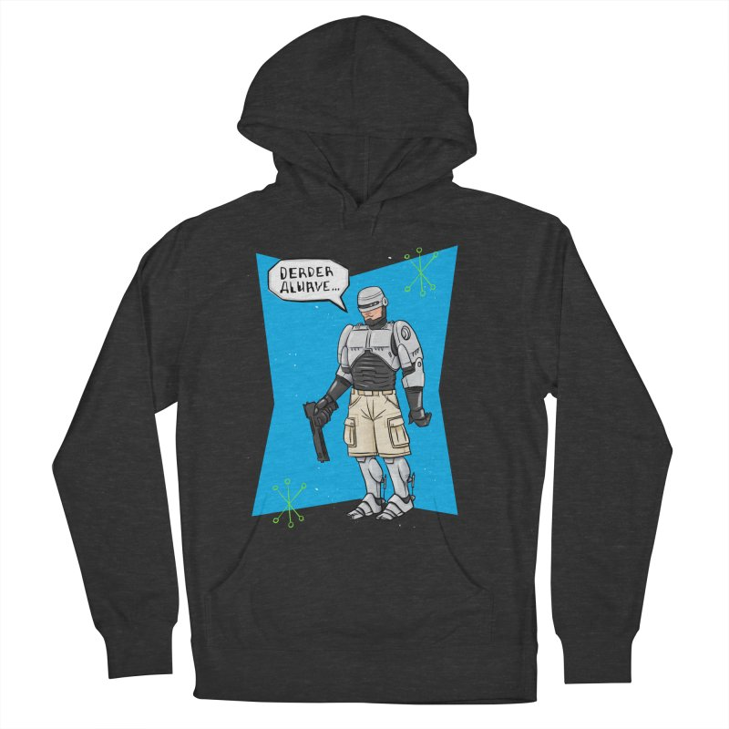 RoboClerp (Ermagerd robots wearing cargo shorts) Men's French Terry Pullover Hoody by Blasto's Artist Shop
