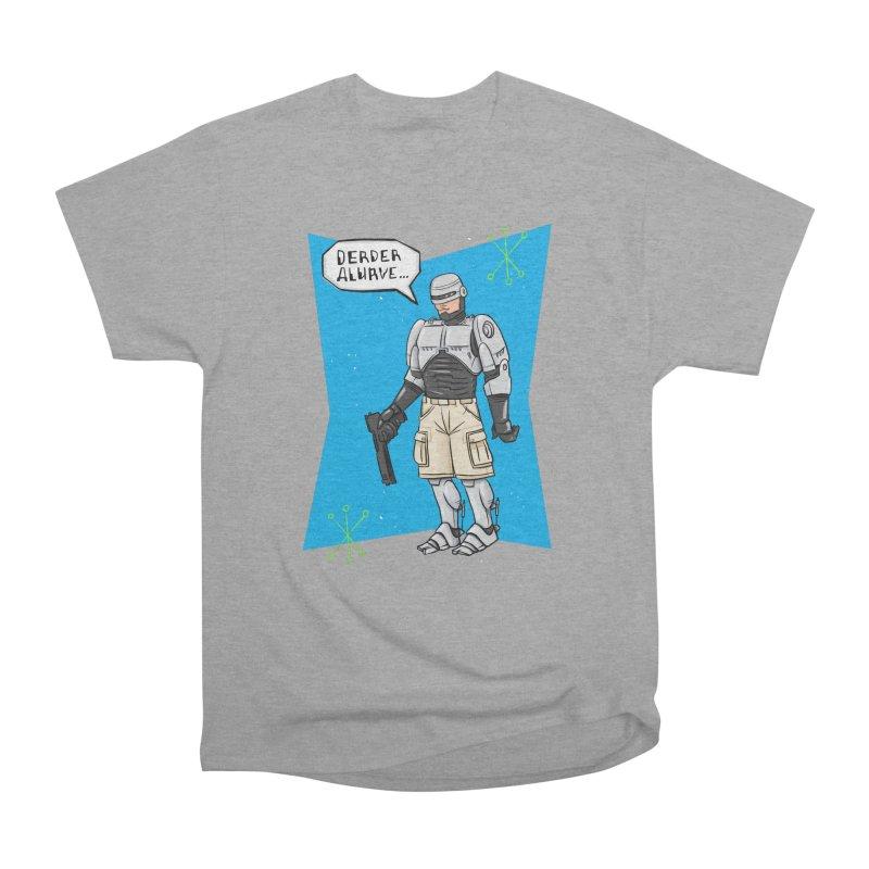 RoboClerp (Ermagerd robots wearing cargo shorts) Women's Heavyweight Unisex T-Shirt by Blasto's Artist Shop