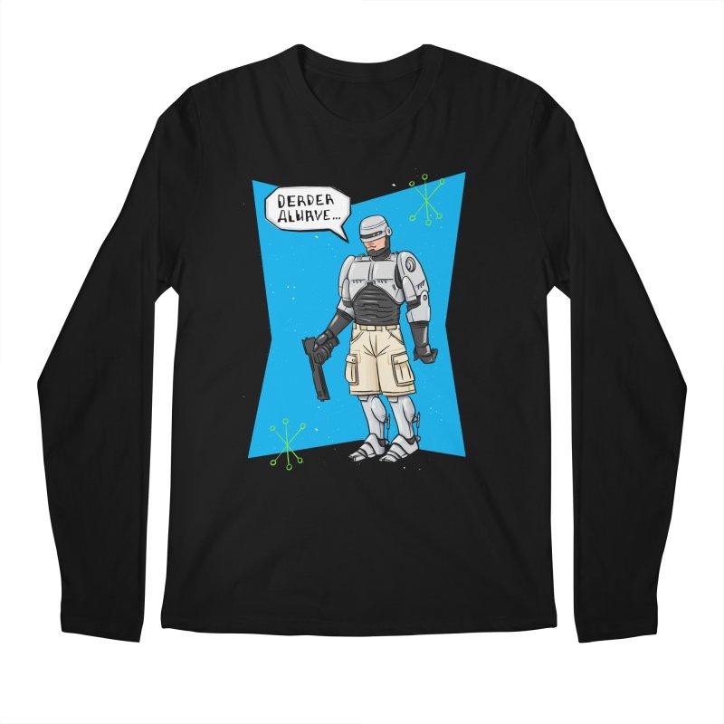 RoboClerp (Ermagerd robots wearing cargo shorts) Men's Regular Longsleeve T-Shirt by Blasto's Artist Shop