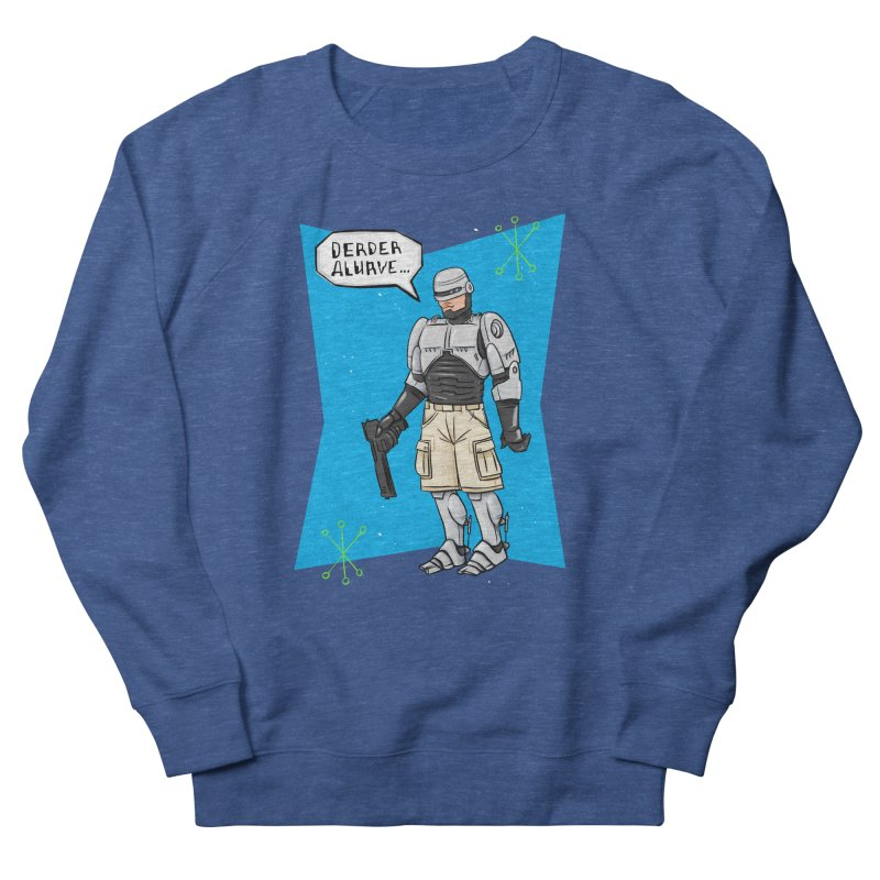 RoboClerp (Ermagerd robots wearing cargo shorts) Men's French Terry Sweatshirt by Blasto's Artist Shop