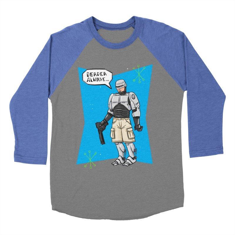 RoboClerp (Ermagerd robots wearing cargo shorts) Women's Baseball Triblend Longsleeve T-Shirt by Blasto's Artist Shop
