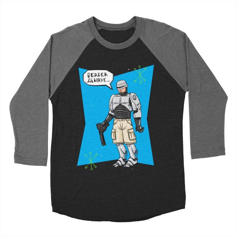 RoboClerp (Ermagerd robots wearing cargo shorts) Men's Baseball Triblend Longsleeve T-Shirt by Blasto's Artist Shop