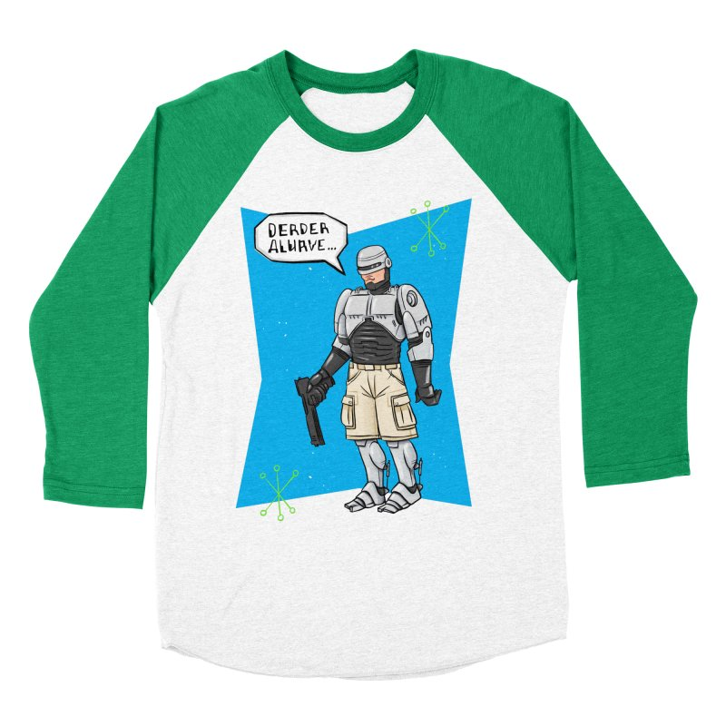 RoboClerp (Ermagerd robots wearing cargo shorts) Men's Baseball Triblend Longsleeve T-Shirt by Blasto's Artist Shop